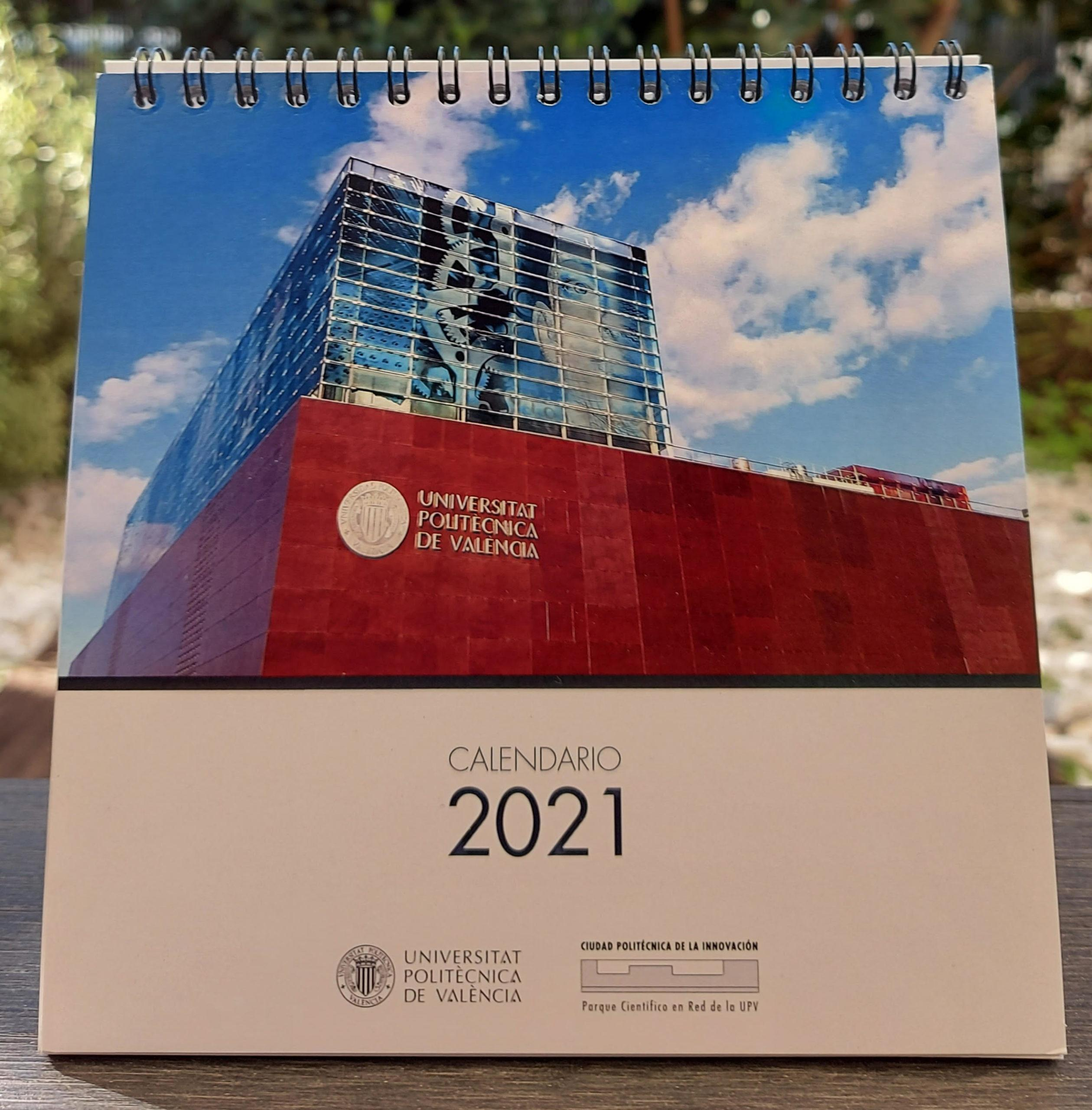 Portada calendario CPI UPV 2021