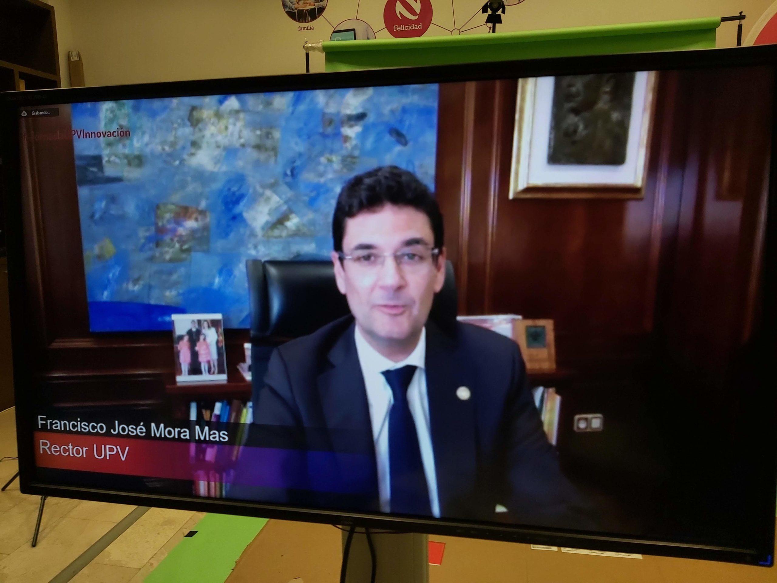 Rector F Mora en la II Jornada UPV Innovacion