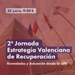 """2ª Jornada """"Estrategia Valenciana de Recuperación"""
