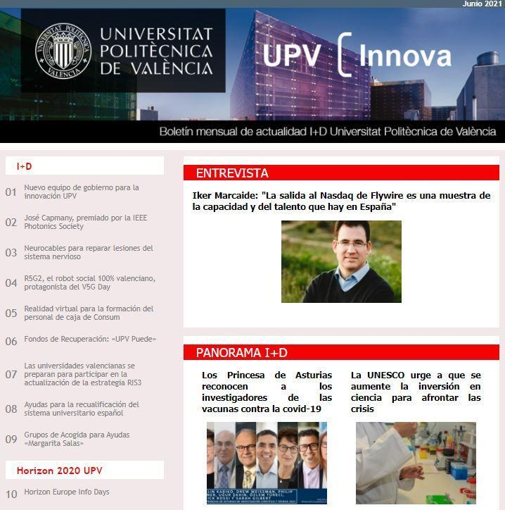 Boletín UPV Innova Junio 2021